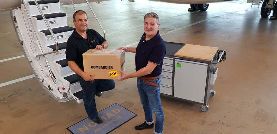 Nomad Technics performs AOG work on a Bombardier Global 6000 after Covid-19 parking